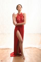 Mathilde, rode jurk 2019